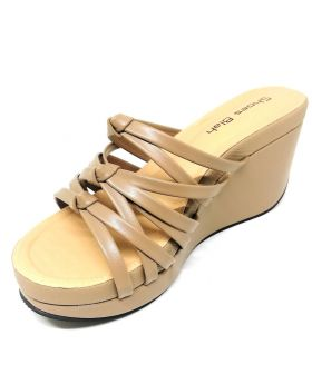 Master-Skin Artificial Leather Block-Heel Sandal for Women